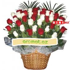49 роз в корзине (код 5845)