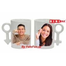 2 чашки с фото и надписью 123