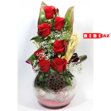 композиция из 7 красных роз (5411)